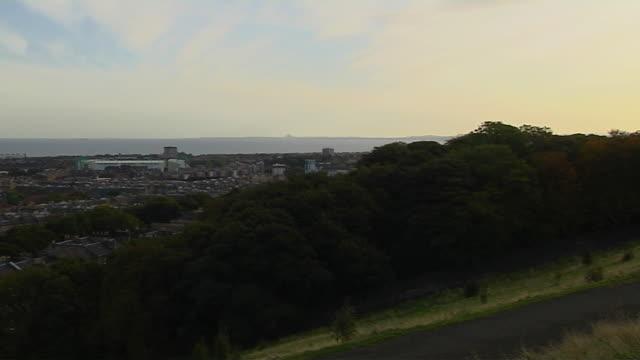 Pan Right Edinburgh City United Kingdom