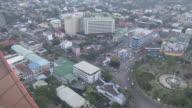 Pan Right Reveal Aerial Shot City Cebu Bohol Philippines