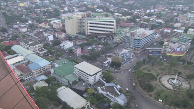 Pan Right Reveal Aerial Shot City Cebu Bohol Philippines