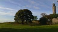 Pan Right Reveal National Monument Edinburgh United Kingdom
