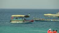Pan Right Shot Boat Aqaba Jordan