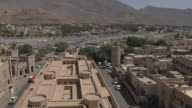 Pan Right Shot City From Nizwa Fort Muscat Oman
