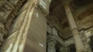 Pan right shot interior jammi masjid champaner gujarat
