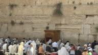 Pan Right Shot Wall Of Jerusalem Israel