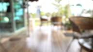 pan shot, blur cafe coffee