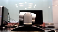 Pan the camera to video conferencing