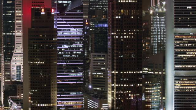 Pan TL  Singapore city skyline at night