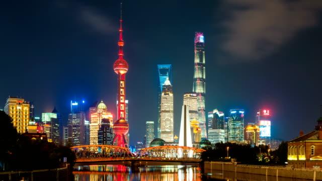 T/L Pan WA Night Shanghai Lujiazui Financial District