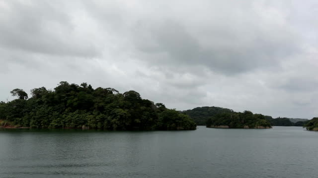 Panama channel island