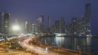 Panama City Night Time Lapse