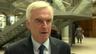 David Cameron faces MPs amid tax affairs row INT John McDonnell MP interview SOT My view is openness and transparency it's better to be open and...