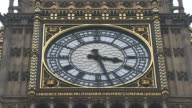 David Cameron faces MPs amid tax affairs row Close shot face of Big Ben clock tower SHOT of minute hand moving on Big Ben