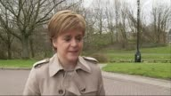 David Cameron publishes six years of tax returns SCOTLAND INT General views Nicola Sturgeon's MSP tax return papers Nicola Sturgeon MSP interview SOT...
