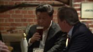 David Cameron publishes six years of tax returns LIB ENGLAND Buckinghamshire Cadsden The Plough INT David Cameron MP and Xi Jinping sitting in pub...