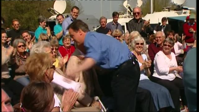 David Cameron publishes six years of tax returns LIB FILE May 2010 Location unknown David Cameron MP greeting his parents seated in crowd during 2010...