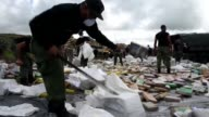 Panamas anti narcotics personnel burned over 10 tons of cocaine and marijuana on Friday in Cerro Patacon a dump near Panama City