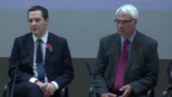 LSE panel discussion with George Osborne Alistair Darling and Vince Cable ENGLAND London London School of Economics INT George Osborne MP Alistair...