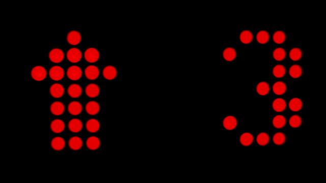 LED-Aufzug aufwärts