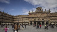 Panned TL of Plaza Mayor in Salamanca, Spain.