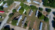Pannen in de buurt overstroomde gebied La Grange, Texas kleine stad Gulf Coast schade van Orkaan Harvey Path of Destruction.