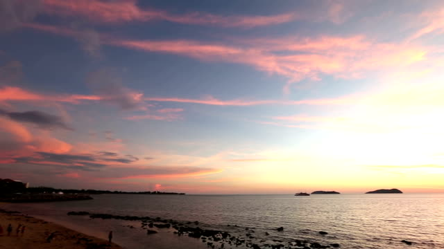 HD Panning: Beautiful south china sea Kota Kinabalu Sabah Malaysia