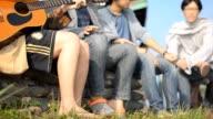 panning : boy group playing music
