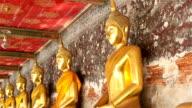 HD panning: Buddha in temple