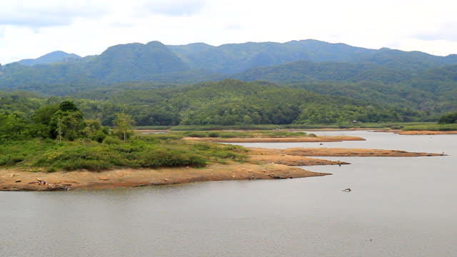 Schwenken Kamera :  die Lagune