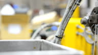 panning: clean polymer scraps from die