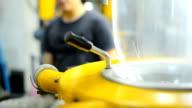panning: die of blown film extruder