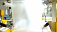 panning: senior scienctist behind extruder machine