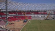 Panning Shot construction at Estadio BeiraRio in Porto Alegre continues Home to the Sport Club Internacional one of Brazil's biggest clubs the...