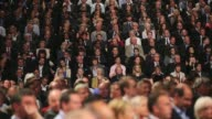 Panning Shot general view of delegates taking part in the 2013 Annual Conservative Party Conference in Manchester The five day conference had keynote...