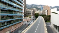 Panning shot Monaco Grand Prix bridge