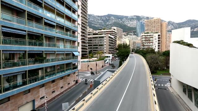 Panning shot Monaco Grand Prix bridge