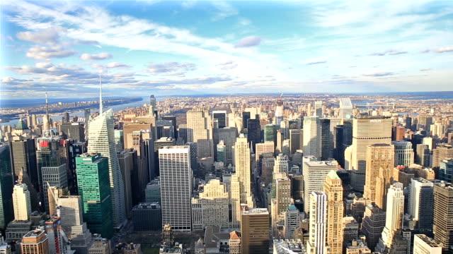 Panoramica girato HD:  New York City Skyline Veduta aerea