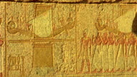 Panning shot of Hieroglyphics in Egypt - HD