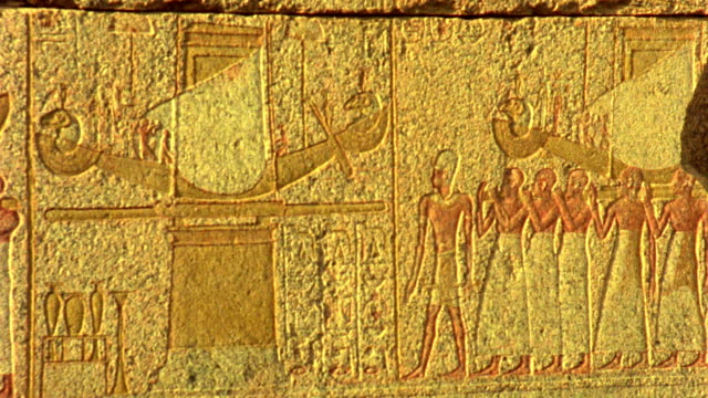 Panning Schuss von Hieroglyphenschrift in Ägypten-HD