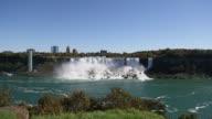 Panning Shot of Niagra Falls