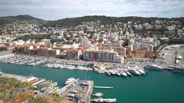 panning shot of Nice Marina Port French Riviera France