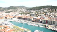 panning shot of Nice Marina Port French Riviera France