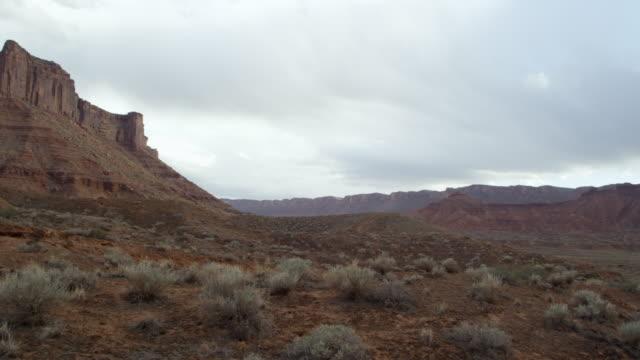 Panning shot of Parriot Butte.