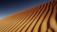 Panning shot of sand ripples in Monument Valley / Monument Valley, Utah, United States,