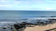 Panning shot of the beach/ Jeffreys Bay/ South Africa