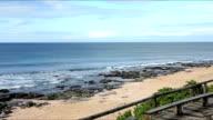 Panning shot of the coast/ Jeffreys Bay/ South Africa