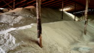 HD panning shot: Salt factory warehouse
