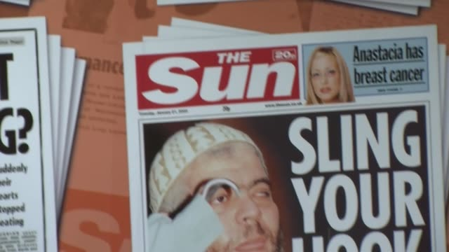 Panning Shot some of The Sun's most iconic front pages Empty News Of The World offices in Wapping London on August 12 2013