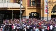 Panning Shot the 2013 AFL Grand Final Parade on September 27 2013 in Melbourne Australia