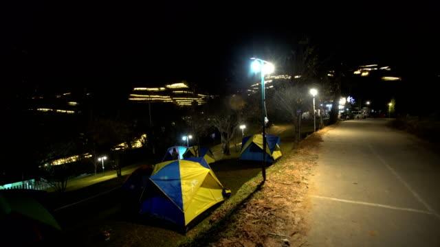 panning shot:Camping