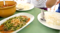 panning : Thai foods are in lunch table